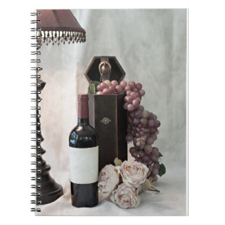 Spiral Notebook-Glass Of Wine and my Thoughts Notebook
