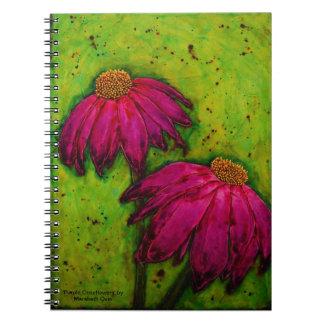 spiral notebook 'Purple Coneflowers'