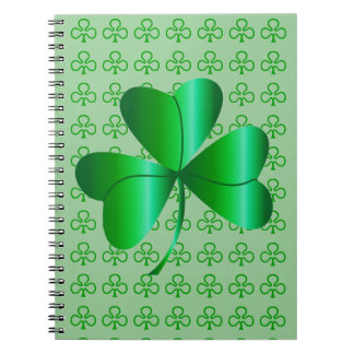 Spiral Notebook Shamrock