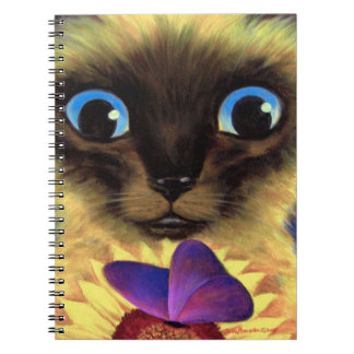 Spiral Notebook Siamese Cat Painting Art