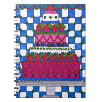 Spiral Notebook - Strawberry Cake
