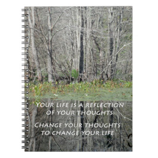 Spiral Notebook with Inspirational Quote