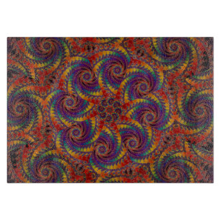 Spiral Octopus Psychedelic Rainbow Fractal Art Boards