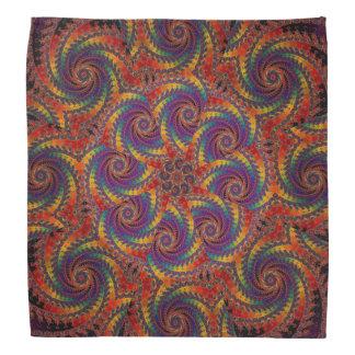 Spiral Octopus Psychedelic Rainbow Fractal Art Kerchiefs