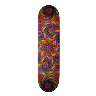 Spiral Octopus Psychedelic Rainbow Fractal Art Custom Skate Board