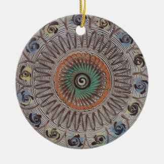 Spiral of Life Ceramic Ornament