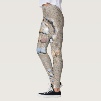 Spiral On The Beach Leggings