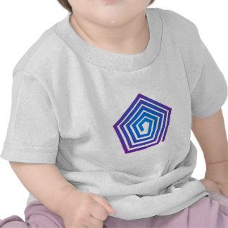 Spiral pentagon spiral Pentagon T Shirts