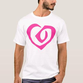 Spiral Pink Heart Love Hearts T-Shirt