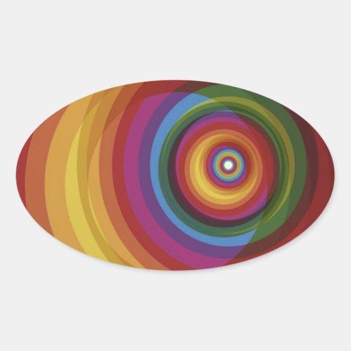 Spiral Rainbow Vector Background Stickers