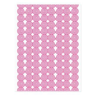 Spiral Rings Art Design Creative Elegant Rounds Ci Postcard