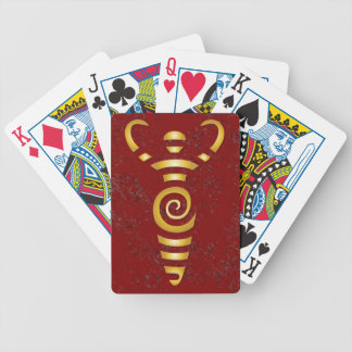 Spiral River Goddess - Gold - 3 Bicycle Playing Cards