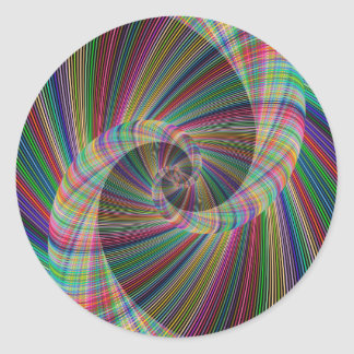 Spiral Round Sticker
