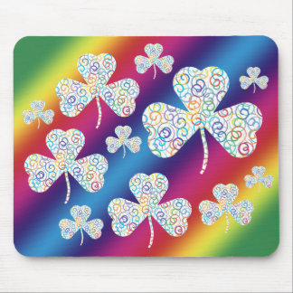 Spiral shamrock   Colorful Mouse Pad