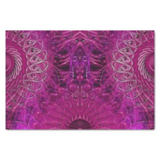Spiral Splatter (pink) Tissue Paper