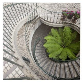 Spiral staircase at the Embarcadero Center Ceramic Tile