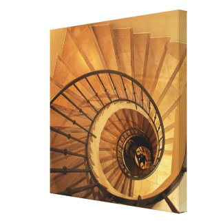 Spiral staircase gallery wrapped canvas