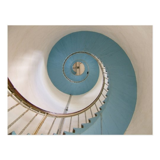 Spiral Staircase of Lyngvik Lighthouse Postcard
