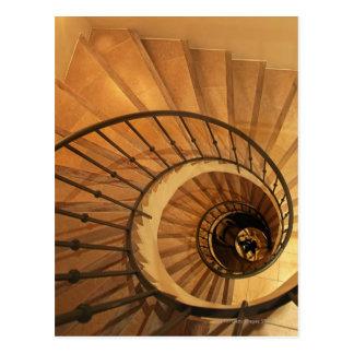 Spiral staircase postcard