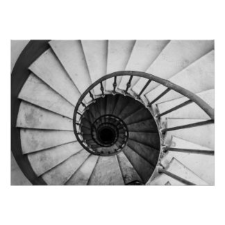 spiral staircase poster