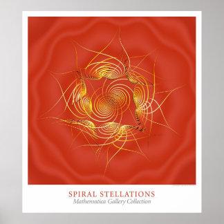 Spiral Stellations Poster