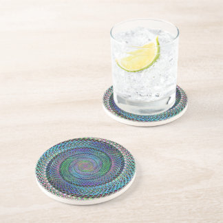 Spiral structure drink coasters