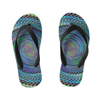 Spiral structure kid's flip flops