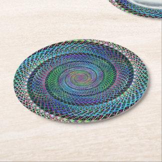 Spiral structure round paper coaster