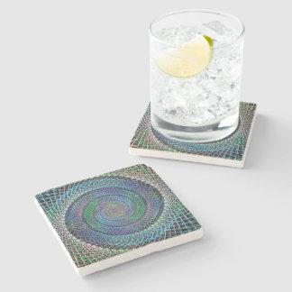 Spiral structure stone beverage coaster