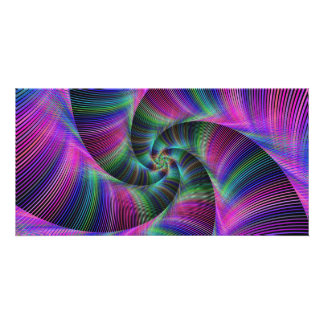 Spiral tentacles photo greeting card