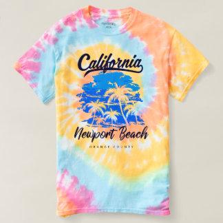 Spiral tie Dye Newport Beach California T-shirt