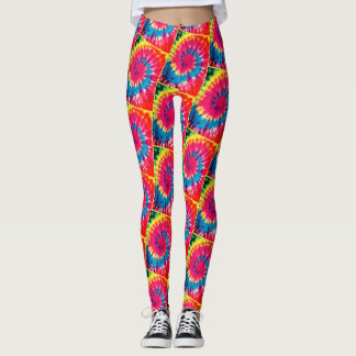Spiral TieDye Leggings [Recoleta filter] Yello Lin