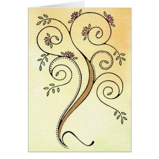 Spiral Tree Card