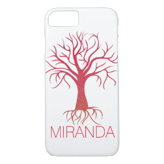 Spiral Tree Case with Name