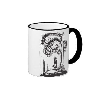 Spiral Tree Girl Ringer Coffee Mug