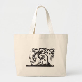 Spiral Tree Grave Large Tote Bag