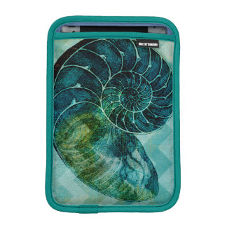 Spiral Turquoise Conch Shell iPad Mini Sleeve