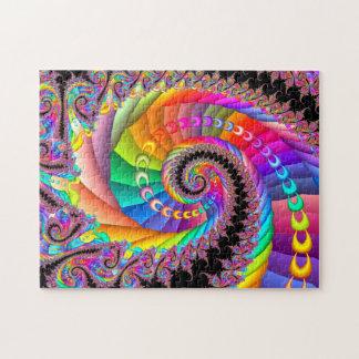 Spiral Twist Fractal Art Jigsaw Puzzle