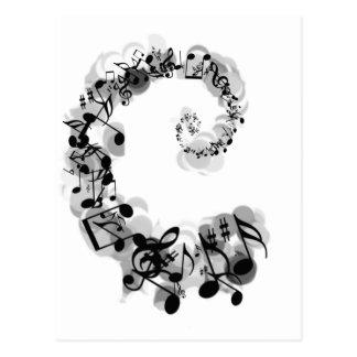 Spirale musicale carte postale