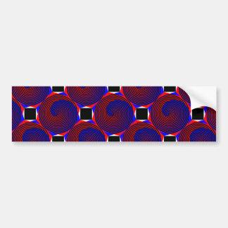 Spirale rouge et bleue autocollant de voiture