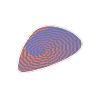 Spirale rouge et bleue médiator en polycarbonate