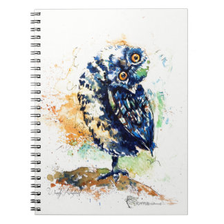 Spiraled Notebook with Silly Owl painting