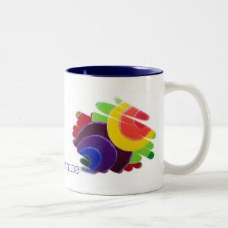 Spirales tropicales plus la tasse de thé