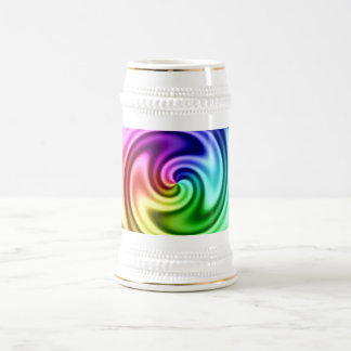 Spiraling Abstract Colorful Vortex Beer Steins