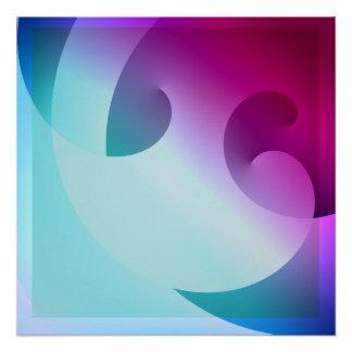 Spiraling Clover Perfect Poster