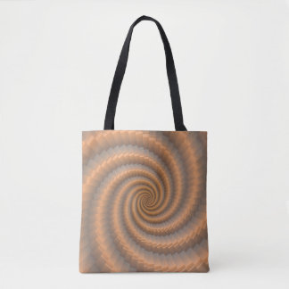 Spiraling Gold Tote Bag by Julie Everhart