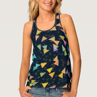 Spiraling Triangles Tank Top