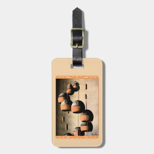 Spiralled Clay Wind Chimes Still Life Bag Tag