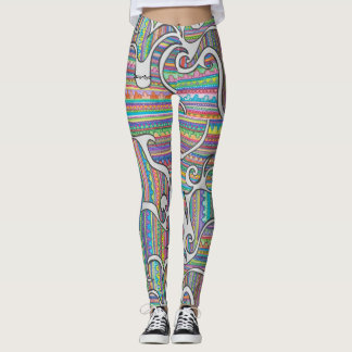 SpiralRainbowLeggings Leggings
