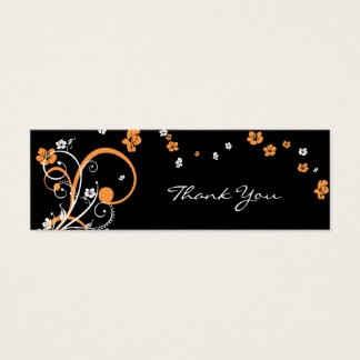 Spirals & Flowers Thank You Tag Card